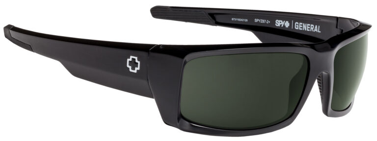 Spy General Sunglasses in Black with HD Plus Gray Green Lenses