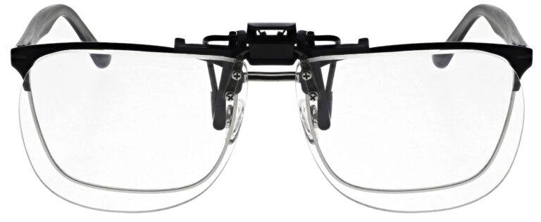Large Clear Magnifying Clip On Angled to the Front