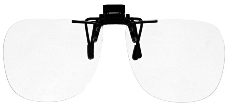 Large Clear Magnifying Clip On Angled to the Rear