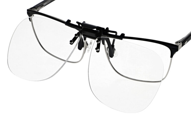 Clip On Flip Up Reading Glasses with Large Lens Adds +1.00 to +5.00