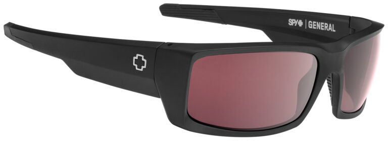 Spy General Sunglasses in Matte Black with Happy Rose with Silver Spectra Mirror Lenses