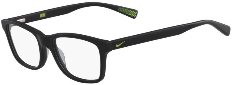 Nike 5015 005 Black Frame Black Lens Angled Side Left