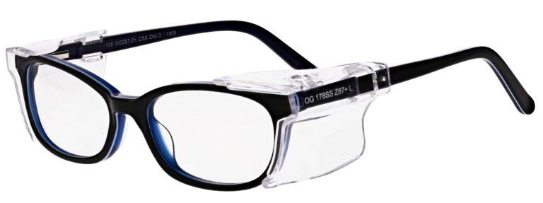 OnGuard Model OG-108 Prescription Safety Glasses in Blue OG-108-BL
