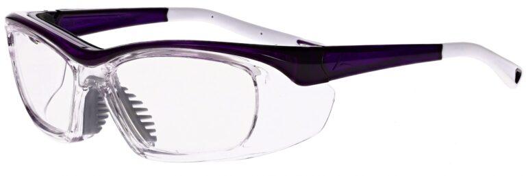 OnGuard Model OG-220S Prescription Safety Glasses in Purple/White OG-220S-PW