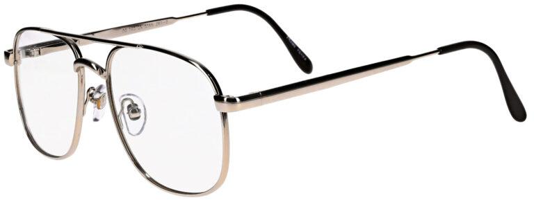 OnGuard 016 Prescription Safety Glasses, Metal Aviator Frame