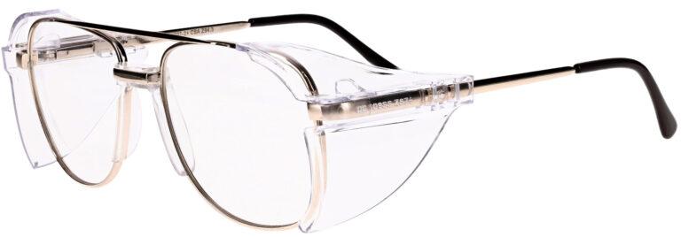 OnGuard 019 Prescription Safety Glasses, Metal Aviator Frame