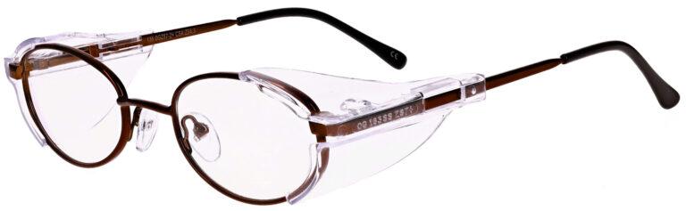 OnGuard 101 Prescription Safety Glasses, Metal Frame