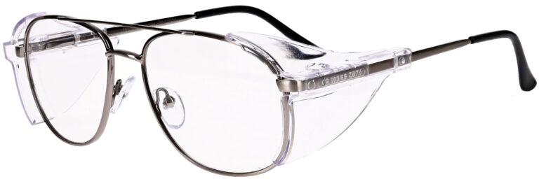 OnGuard 102 Prescription Safety Glasses, Metal Frame
