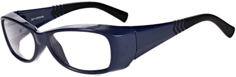 Model RX-OP-23 Safety Glasses in Blue RX-OP23-BL