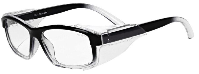 Model RX-OP28 Safety Glasses in Black/Fade RX-OP-28-BKF