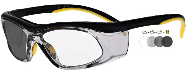 Photochromic Bifocal Safety Glasses, PSG-TGB-206YBS