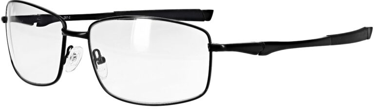 Model RX-116 metal safety glasses in black RX-116-BK