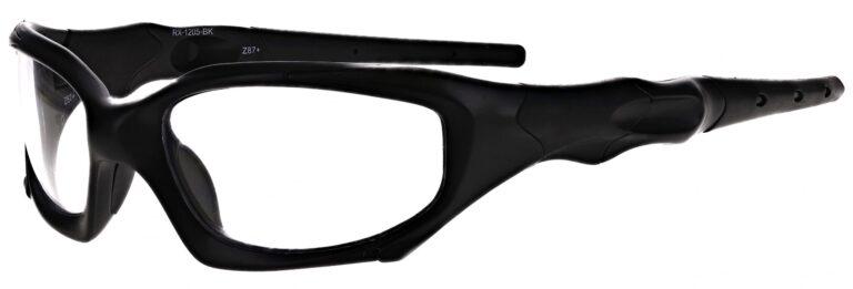 Prescription Wraparound Safety Glasses Model RX-1205-BK in Black