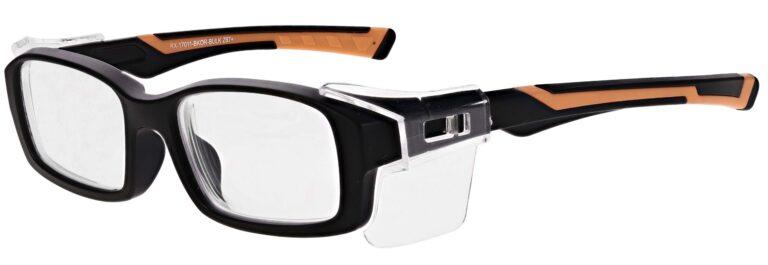 Model RX-17011 Safety Glasses in Black/Orange RX-17011-BKOR