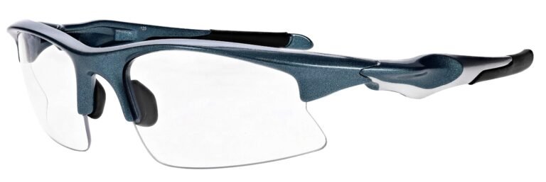 Prescription Free Form Safety Glasses RX-456-NS Navy Silver