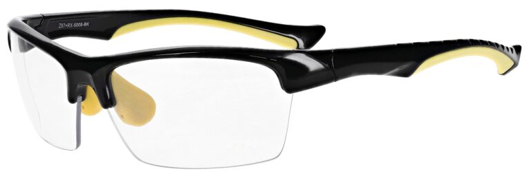 Prescription Free Form Safety Glasses RX-5008-BK in Black