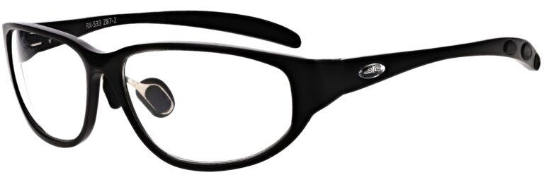 Prescription Wraparound Safety Glasses in Model RX-533-BK in Black