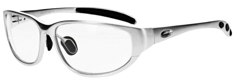 Prescription Wraparound Safety Glasses in Model RX-533-S in Silver