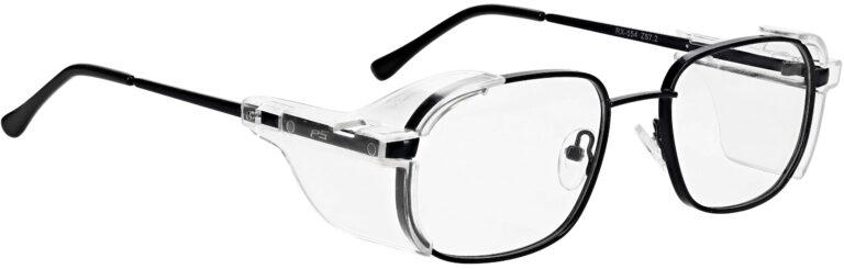 Model RX-554 Metal Safety Glasses in Black RX-554-BK