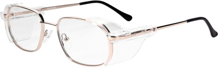 Model RX-554 Metal Safety Glasses in Gold RX-554-G