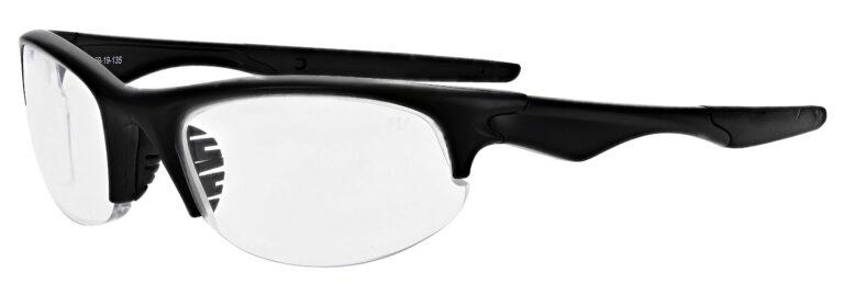 Prescription Free Form Safety Glasses RX-651 in Charcoal Matte Black