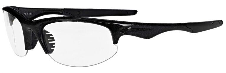 Prescription Free Form Safety Glasses RX-651-MB in Metallic Black
