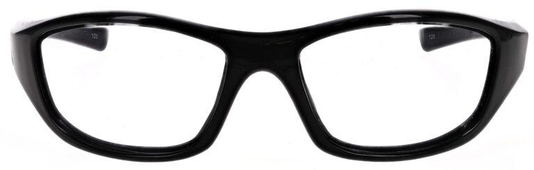 Prescription Wraparound Safety Glasses RX-703-BK in Black