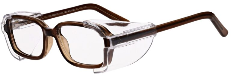 Model RX-80 Safety Glasses in Charcoal with Clear Side Shields RX-80-C