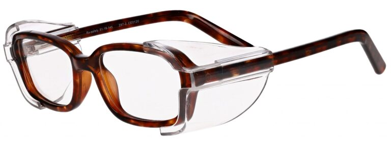 Model RX-80 Safety Glasses in Tortoise with Clear Side Shields RX-80-T