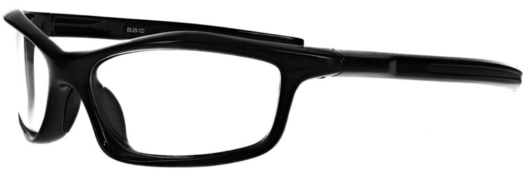 Prescription Wraparound Safety Glasses Model RX-8483-BK in Black