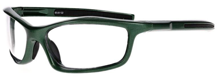 Prescription Wraparound Safety Glasses Model RX-8483-GR in Green