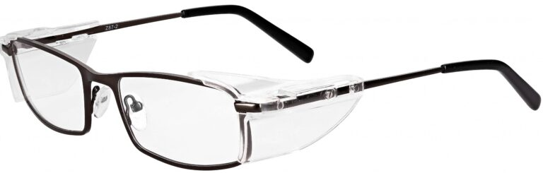 Model RX-850 Gunmetal Safety Glasses. Available in 2 sizes RX-850-GM