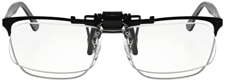 Small Clear Magnifying Clip On, Angled Front