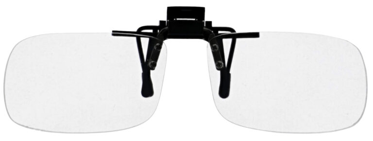 Small Clear Magnifying Clip On, Angled Front Solo