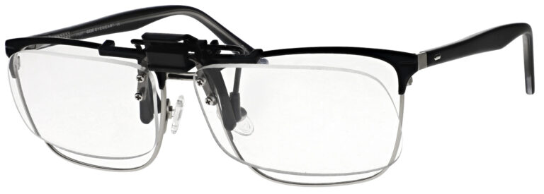 Small Clear Magnifying Clip On, Angled Side Left
