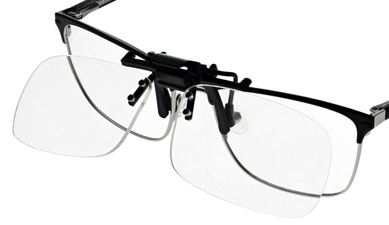 Clip On Flip Up Reading Glasses with Small Lens Adds +1.00 to +5.00