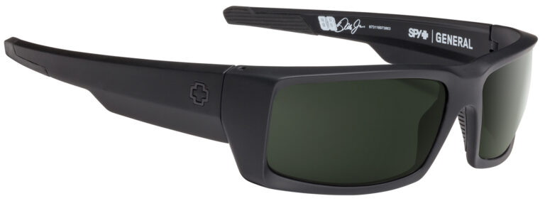 Spy General Dale Jr Sunglasses in Soft Matte Black with Happy Gray Green Lenses