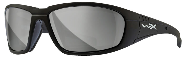 Wiley X Boss in Matte Black Frame with Silver Flash Lenses, WX-CCBOS06