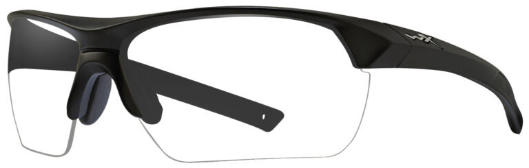 Wiley X Guard in Matte Black Frame Angled to the Side Left