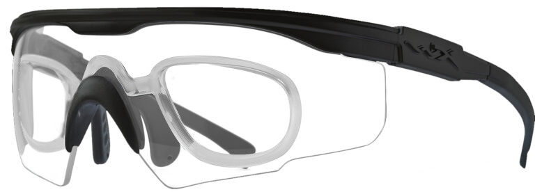 Wiley X PT-1 In Matte Black Clear Lenses with RX Insert, WX-PT-1CRX