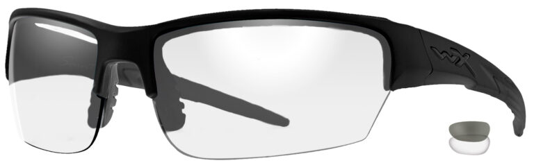 Wiley X Saint in Matte Black Frame with Smoke Gray Clear Lenses, WX-CHSAI07