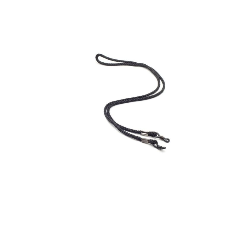 Black Cloth String Retainer Cord