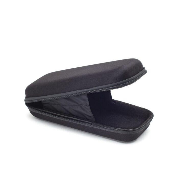 Black Rectangle Nylon Case with Zipper