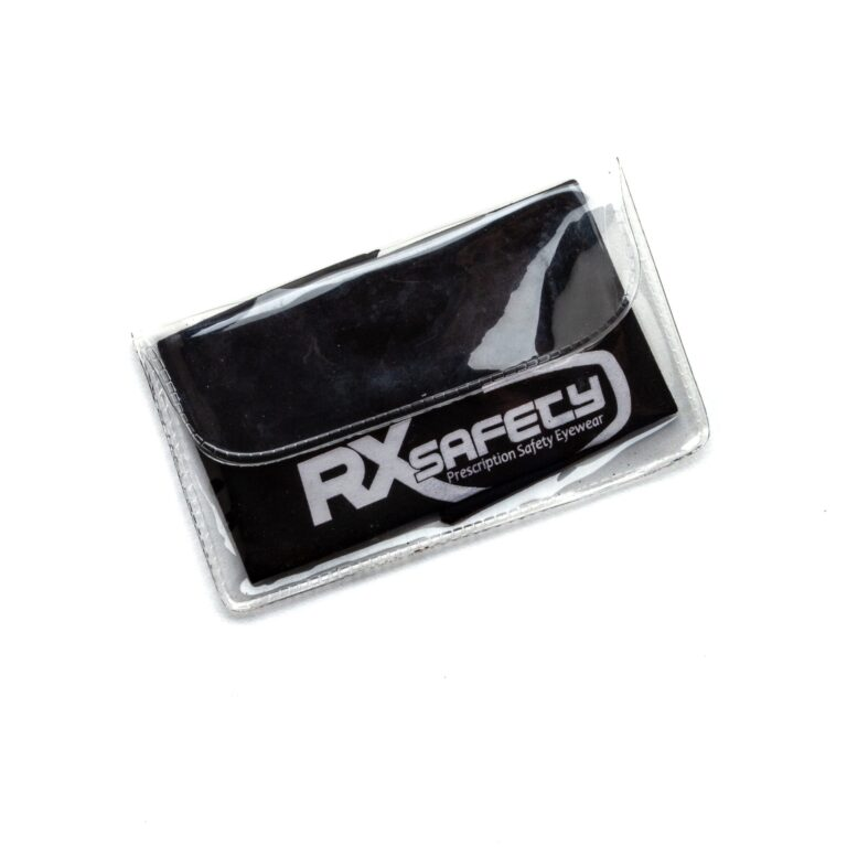 Black Cleaning Cloth with White RX Safety logo , #ACC-RXSAFETYCLOTH-BK