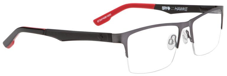 Spy Hawke Eyeglasses in Gunmetal/Red