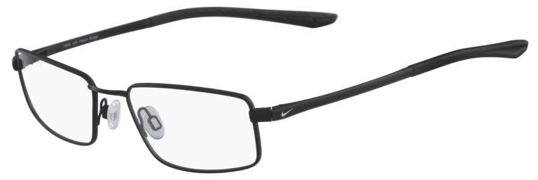 Nike 4282 001 Satin Black Chrome Frame Satin Black Chrome Lens Angled Side Left
