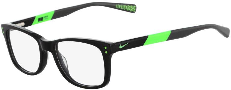 Nike 5538 001 Black Flash Time Volt Frame Black Flash Time Lens Angled Side Left