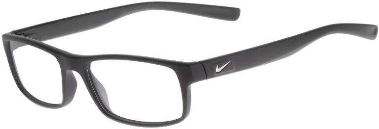 Nike 7090 001 Matte Black Frame Matte Black Lens Angled Side Left