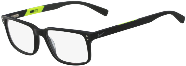 Nike 7240 001 Matte Black Frame Matte Black Lens Angled Side Left