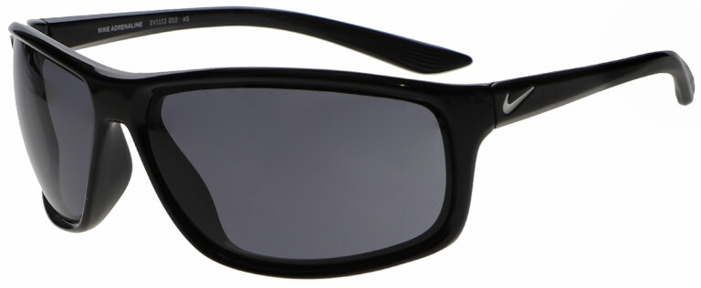 Nike Adrenaline in Black Frame with Grey Lens, Angled to the Side Left